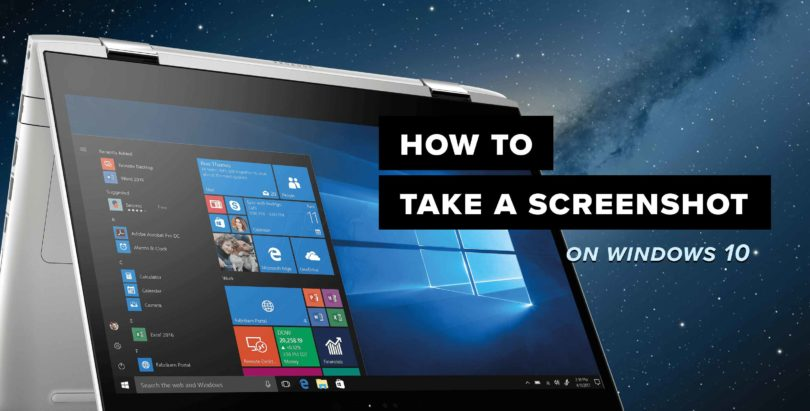 how to take screenshot on window 10