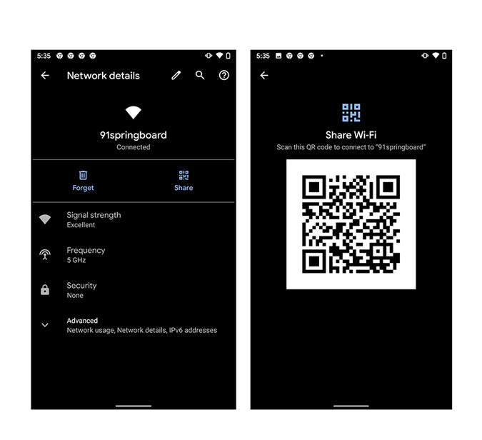 Share the Password via QR Code: