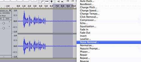 Steps to Remove Background Noise with Audacity