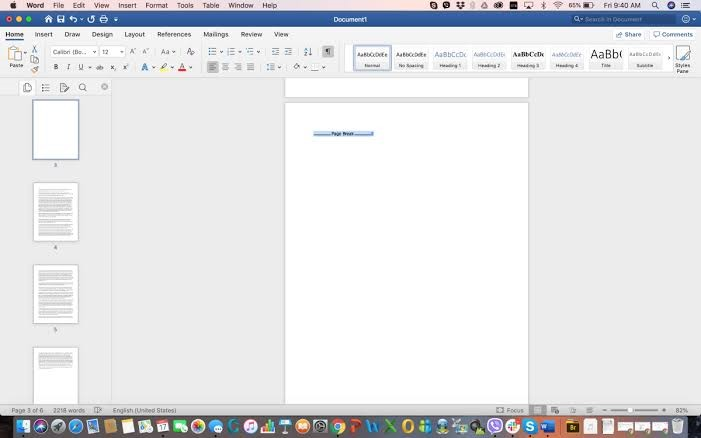 how to delete pages in Microsoft word