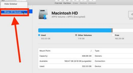 4. SD Card Appearing in Disk Utility but Unable to Mount