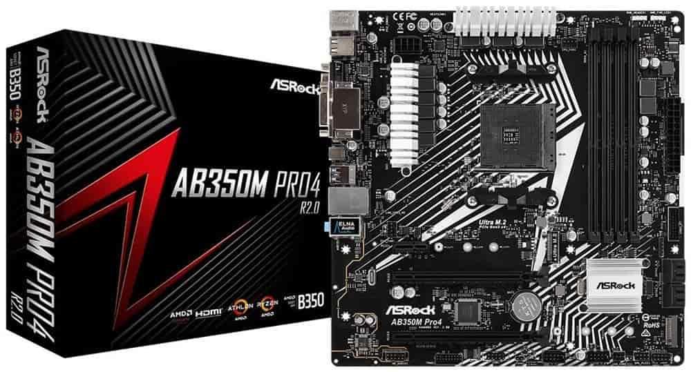 ASRock AB350MPRO4-mATX