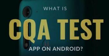 What is CQA Test App
