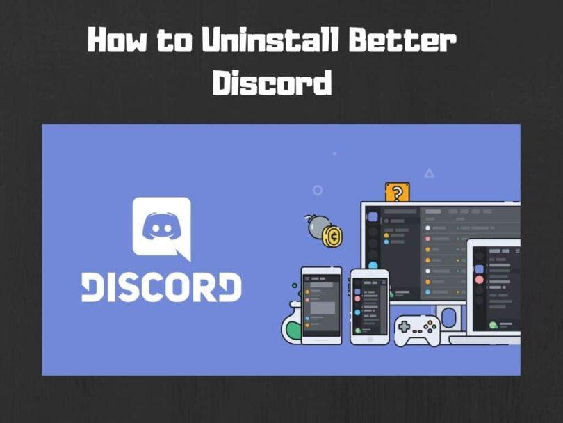 Uninstall-Better-Discord
