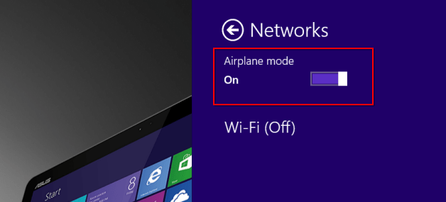 Turn Airplane mode on and off.